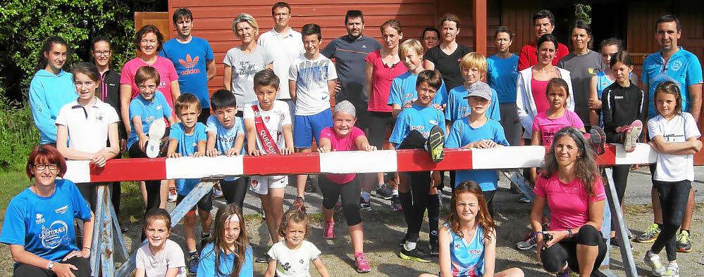 Parents et enfants se sont entrainés ensemble samedi au stade de Kérivarc'h.